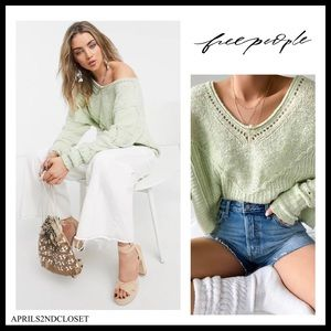 FREE PEOPLE PULLOVER LUXE KNIT SWEATER A2C